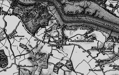 Old map of Pin Mill in 1896