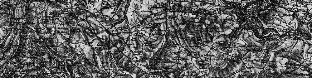 Old map of Chelmorton in 1896