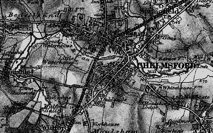 Old map of Chelmsford in 1896