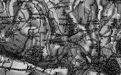 Old map of Leigh Hill in 1898