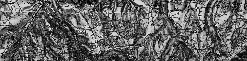 Old map of Chelsham in 1895