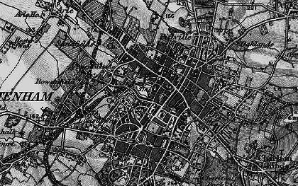 Old map of Cheltenham in 1896
