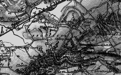 Old map of Backwell Hill Ho in 1898