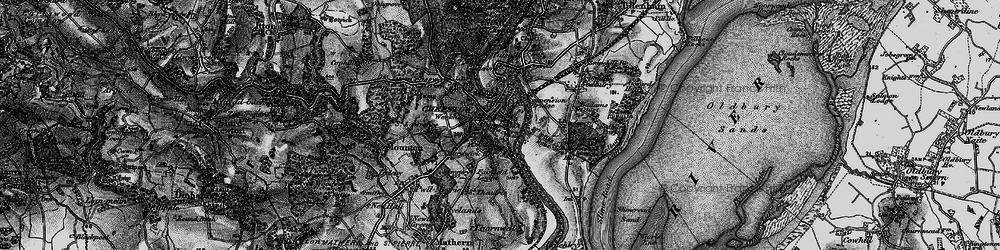 Old map of Chepstow in 1897
