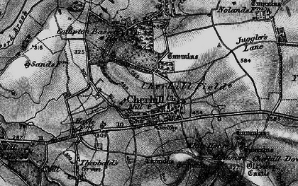 Old map of Cherhill in 1898