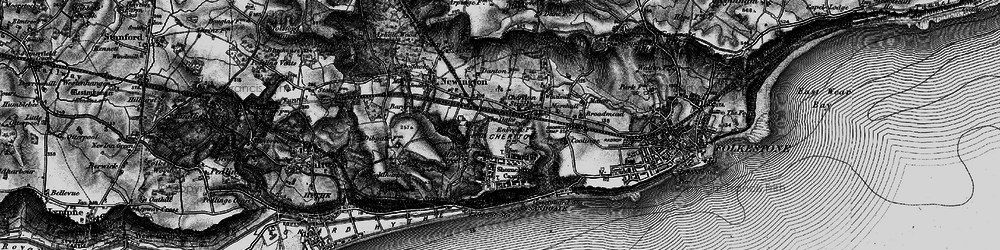 Old map of Cheriton in 1895