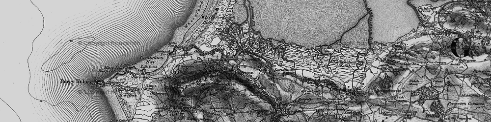 Old map of Cheriton in 1896