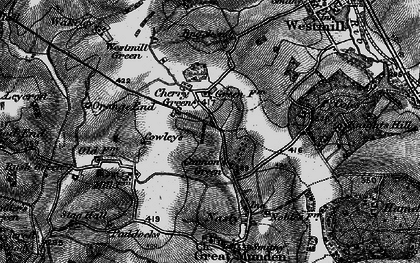 Old map of Cherry Green in 1896