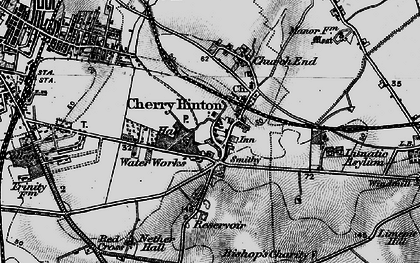 Old map of Cherry Hinton in 1898
