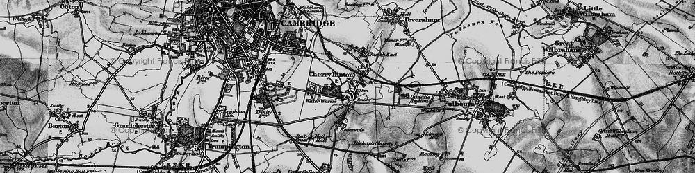 Old map of Addenbrooke's Hospl in 1898