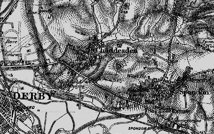 Old map of Cherrytree Hill in 1895
