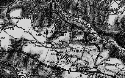 Old map of Chesham Bois in 1896