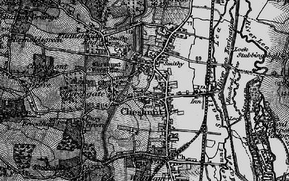 Old map of Cheshunt in 1896