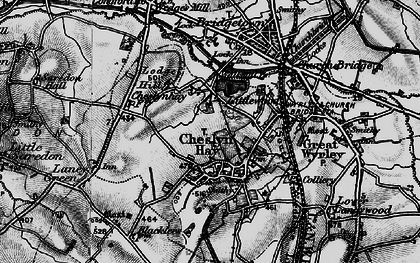 Old map of Cheslyn Hay in 1898