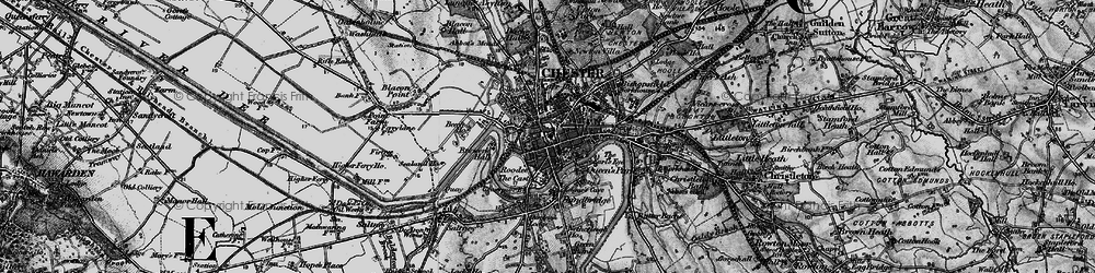 Old map of Chester in 1896