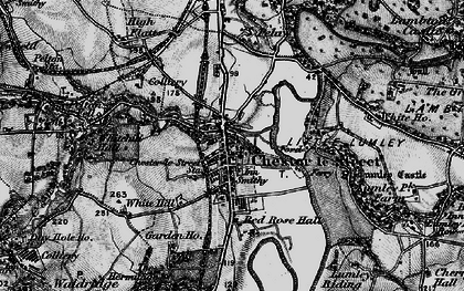 Old map of Chester-Le-Street in 1898