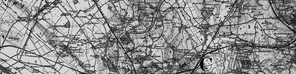 Old map of Chester Zoo in 1896
