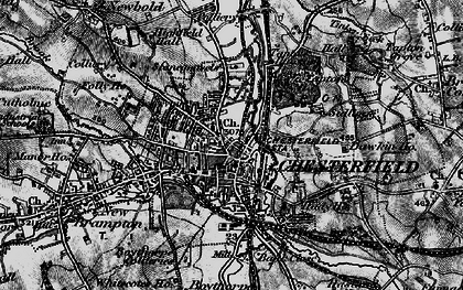 Old map of Chesterfield in 1896