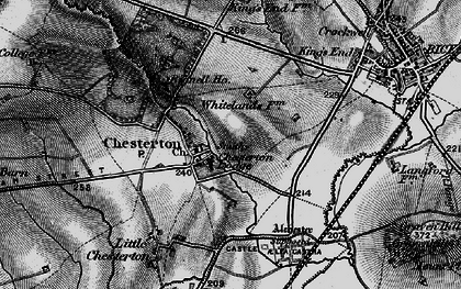 Old map of Alchester (Roman Town) in 1896