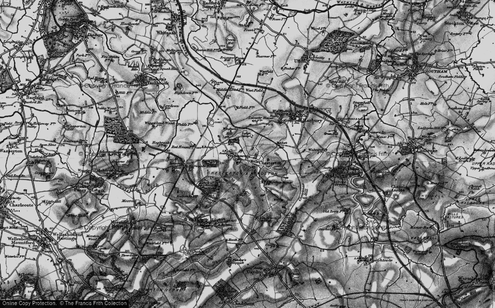 Old Map of Chesterton, 1898 in 1898