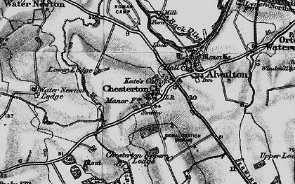 Old map of Chesterton in 1898