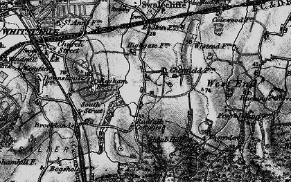 Old map of Chestfield in 1895