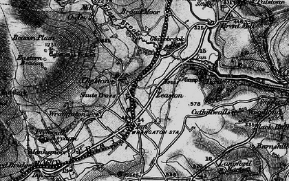 Old map of Zeaston in 1898