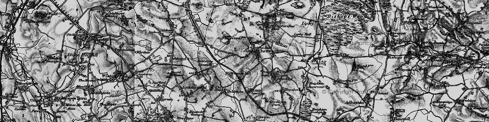 Old map of Cheswardine in 1897