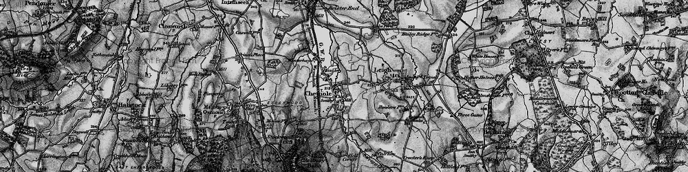 Old map of Wriggle River in 1898
