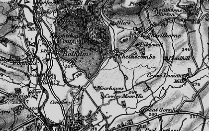 Old map of Chettiscombe in 1898
