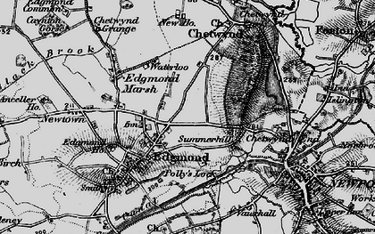 Old map of Chetwynd in 1897