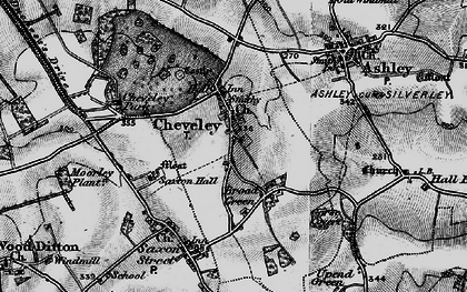 Old map of Cheveley in 1898