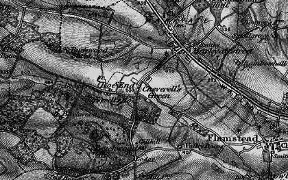 Old map of Cheverell's Green in 1896