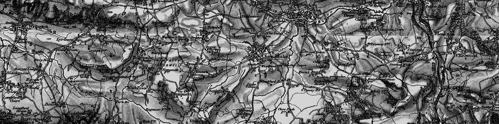 Old map of Woodford Hill in 1898