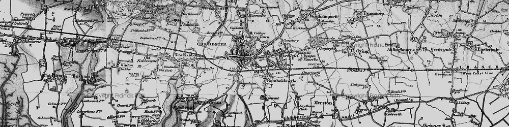 Old map of Chichester in 1895
