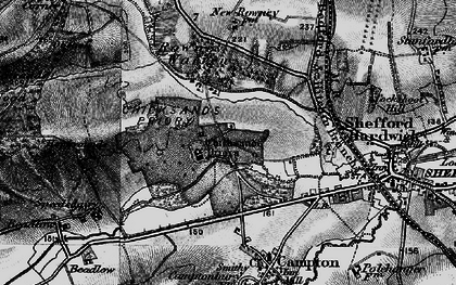Old map of Chicksands in 1896