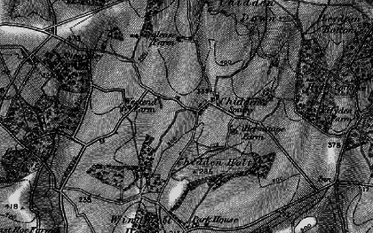 Old map of Westend Down in 1895