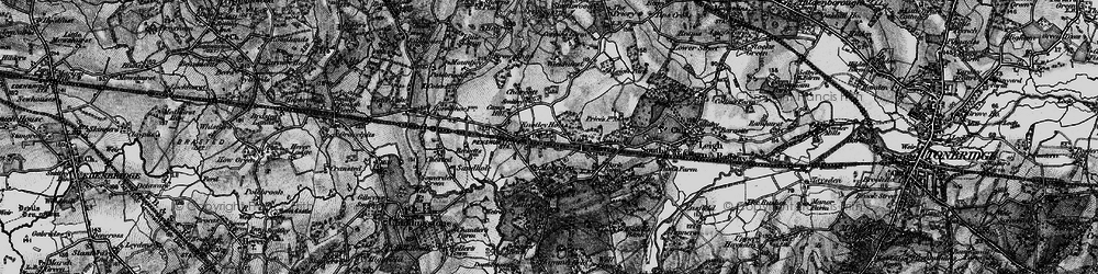 Old map of Chiddingstone Causeway in 1895