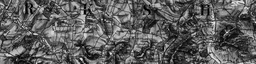 Old map of Chieveley in 1895