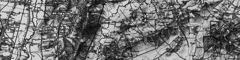 Old map of Chigwell in 1896