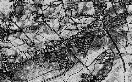 Old map of Chigwell Row in 1896