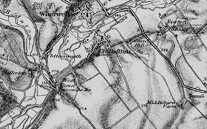 Old map of Chilbolton in 1895