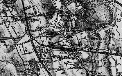 Old map of Childer Thornton in 1896