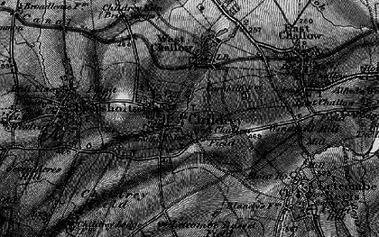 Old map of Childrey in 1895