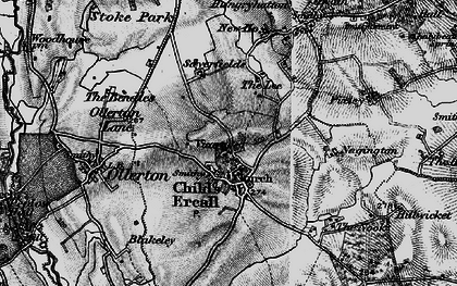 Old map of Childs Ercall in 1899