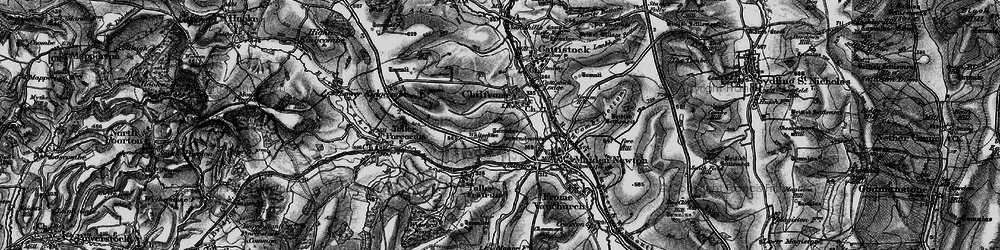 Old map of Whitesheet Hill in 1898