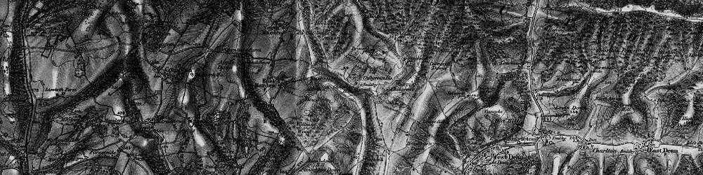Old map of Westdean Woods in 1895