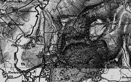 Old map of Willie Law in 1897
