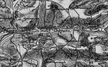 Old map of Chillington in 1897