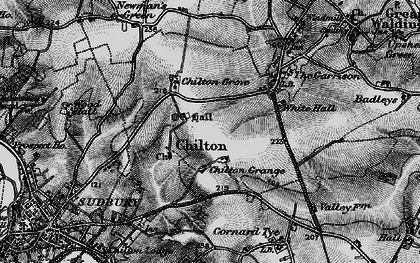 Old map of Chilton in 1895